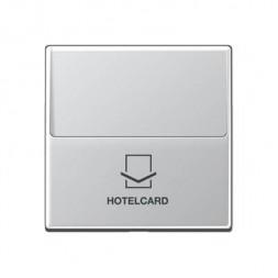 Накладка карточного выключателя для кнопок с подстветкой Jung A 500 алюминий A590CARDAL