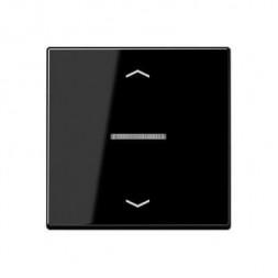 Накладка нажимного электронного жалюзийного выключателя Jung A 500 черная A5232SW