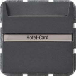 Выключатель карточный Gira System 55 с подсветкой 10A 250V антрацит 014028
