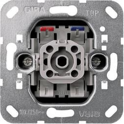 Выключатель клавишно-кнопочный Gira System 55 с N-клеммой 10A 250V 015000