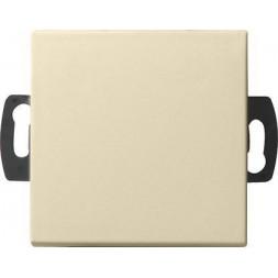 Выключатель кнопочный одноклавишный Gira System 55 0,5A 42V кремовый глянцевый 013801