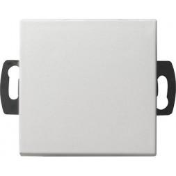 Выключатель кнопочный одноклавишный Gira System 55 0,5A 42V чисто-белый шелковисто-матовый 013827