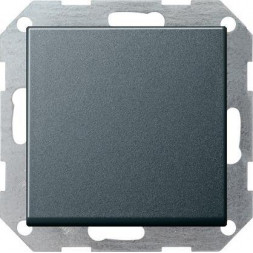 Выключатель кнопочный одноклавишный Gira System 55 10A 250V антрацит 012628