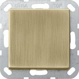 Выключатель кнопочный одноклавишный Gira System 55 10A 250V бронза 0126603