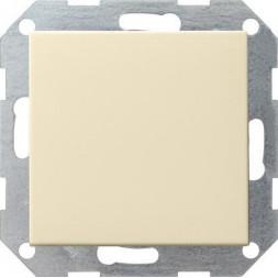 Выключатель кнопочный одноклавишный Gira System 55 10A 250V кремовый глянцевый 012601
