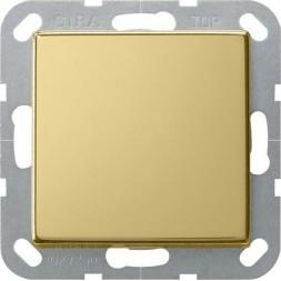 Выключатель кнопочный одноклавишный Gira System 55 10A 250V латунь 0126604