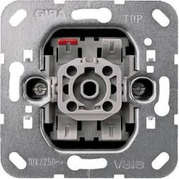 Выключатель кнопочный одноклавишный Gira System 55 с сигнальным контактом 10A 250V 015200