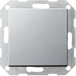 Выключатель кнопочный одноклавишный перекрестный Gira System 55 10A 250V алюминий 012726