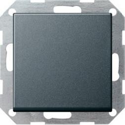 Выключатель кнопочный одноклавишный перекрестный Gira System 55 10A 250V антрацит 012728