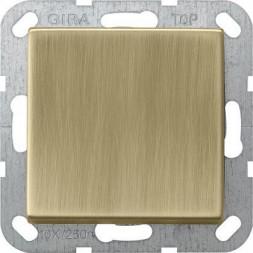 Выключатель кнопочный одноклавишный перекрестный Gira System 55 10A 250V бронза 0127603