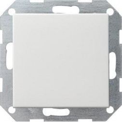 Выключатель кнопочный однохклавишный перекрестный Gira System 55 10A 250V чисто-белый глянцевый 0127