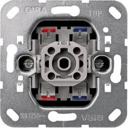 Выключатель одноклавишный двухполюсный Gira System 55 10A 250V 010200