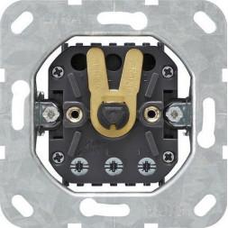 Выключатель поворотный управления жалюзи Gira System 55 1-полюсный 10A 250V 015400