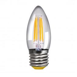 Лампа светодиодная филаментная Voltega E27 4W 2800К прозрачная VG10-C1E27warm4W-F 8334