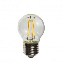 Лампа светодиодная филаментная E27 4W прозрачная 056-847