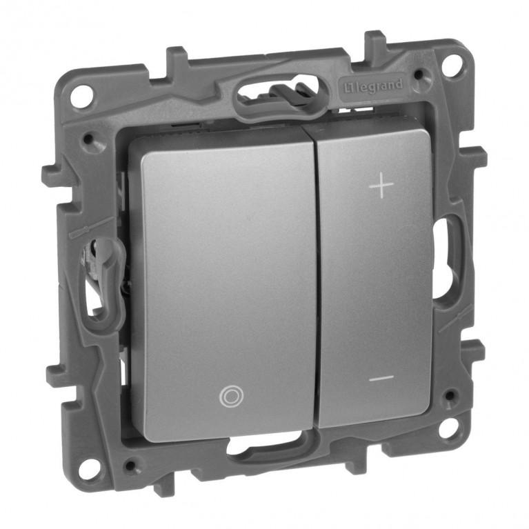 Диммер кнопочный Legrand Etika без нейтрали 400W алюминий 672418