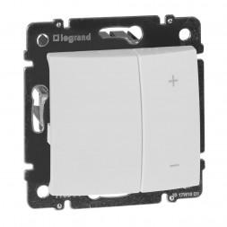 Диммер кнопочный Legrand Valena 600W белый 770074