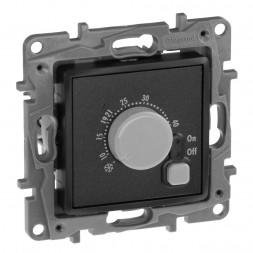 Термостат Legrand Etika с внешним датчиком для тёплых полов антрацит 672630
