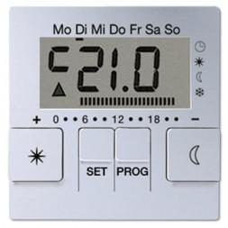 Дисплей термостата с таймером Jung A 500 алюминий AUT238DAL