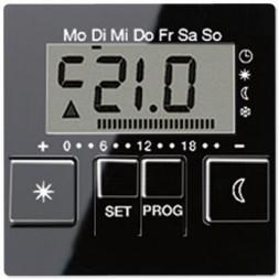 Дисплей термостата с таймером Jung A 500 черный AUT238DSW