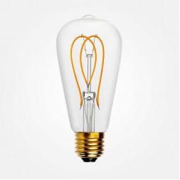 Лампа светодиодная филаментная E27 5W прозрачная 056-922