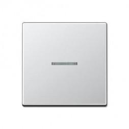 Накладка светорегулятора/выключателя нажимного с ДУ(радио) с индикацией Jung A 500 алюминий A1561.07
