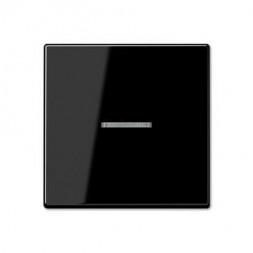 Накладка светорегулятора/выключателя нажимного с ДУ(радио) с индикацией Jung A 500 черная A1561.07FK