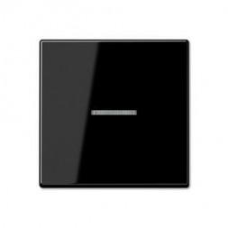 Накладка светорегулятора/выключателя нажимного с индикацией Jung A 500 черная A1561.07USW