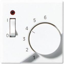 Накладка термостата комнатного с выключателем Jung A 500 белая ATR231PLWW