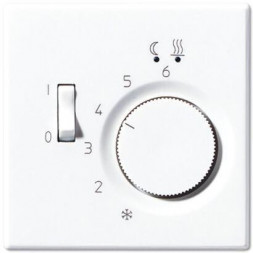 Регулятор теплого пола 10(4)А Jung LS 990 белый FTRLS231WW