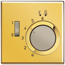 Регулятор теплого пола 10А Jung LS 990 золото FTRLS231GGO
