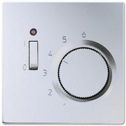 Термостат комнатный 10(4)А 24V 50/60 Hz Jung LS 990 алюминий TRAL241