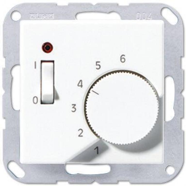 Термостат комнатный 10(4)А Jung A 500 белый TRA231WW