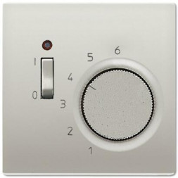 Термостат комнатный 10(4)А Jung LS 990 edelstahl TRES231
