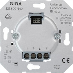 Диммер универсальный кнопочный двухклавишный GiraSystem 2000 226300