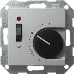 Термостат Gira System 55 помещения алюминий 039326