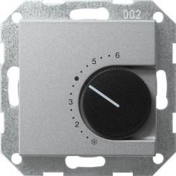Термостат Gira System 55 помещения алюминий 039626