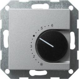 Термостат Gira System 55 помещения алюминий 039726
