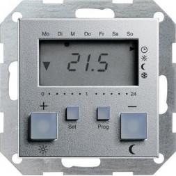 Термостат Gira System 55 помещения алюминий 237026