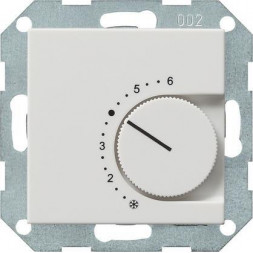 Термостат Gira System 55 помещения чисто-белый шелковисто-матовый 039627