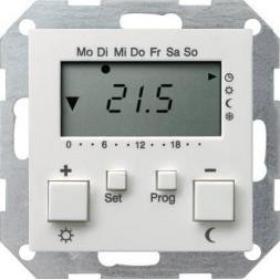 Термостат Gira System 55 помещения чисто-белый шелковисто-матовый 237027