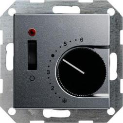 Термостат Gira System 55 теплого пола алюминий 039226