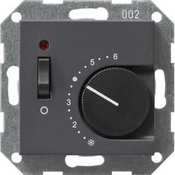 Термостат Gira System 55 теплого пола антрацит 039228