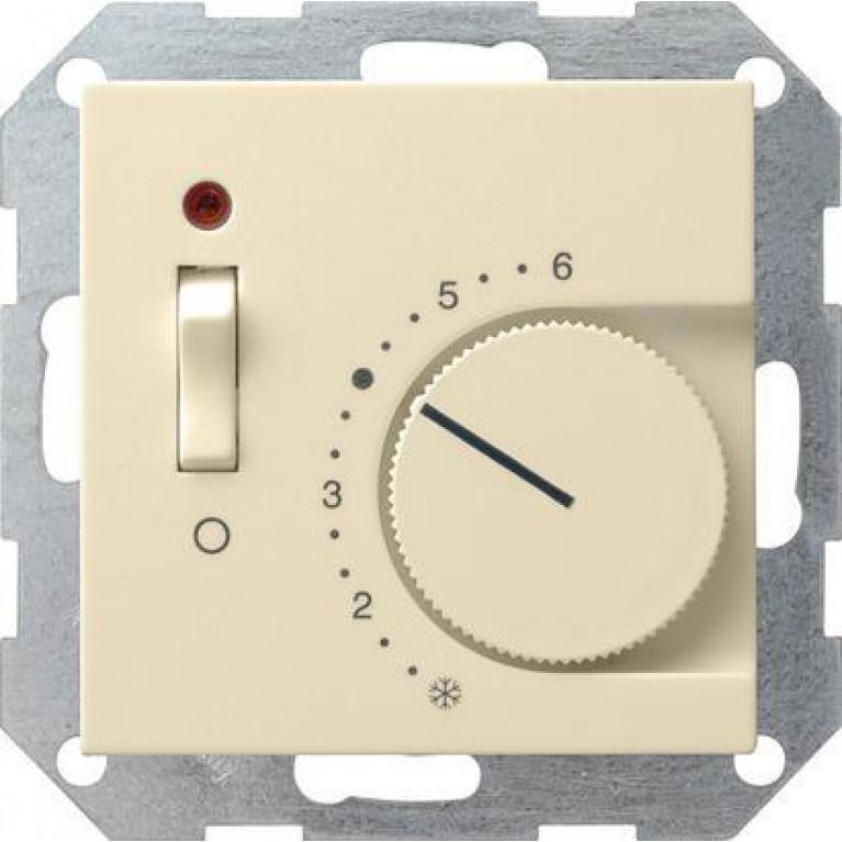 Термостат Gira System 55 теплого пола кремовый глянцевый 039201