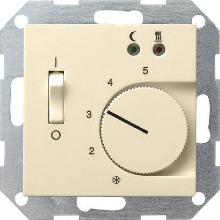 Термостат Gira System 55 теплого пола кремовый глянцевый 039401