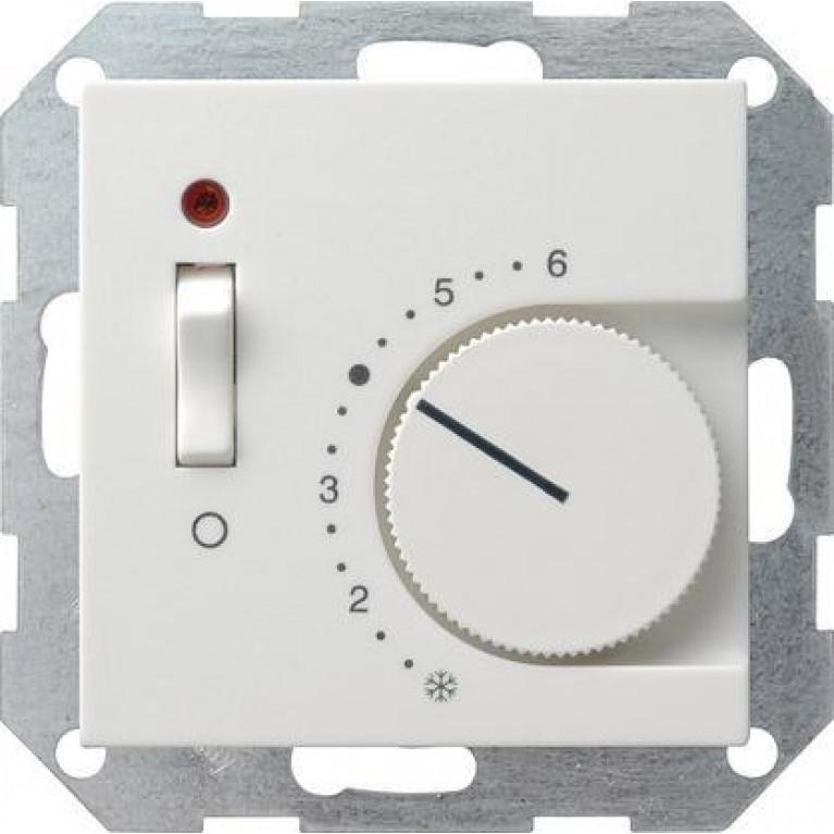 Термостат Gira System 55 теплого пола чисто-белый глянцевый 039203