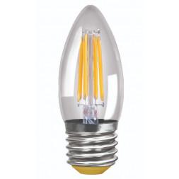Лампа светодиодная E27 6W 2800K прозрачная VG10-C1E27warm6W-F 7046