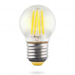 Лампа светодиодная E27 6W 2800К прозрачная VG10-G1E27warm6W-F 7023