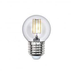 Лампа светодиодная филаментная (UL-00000196) E27 6W 3000K прозрачная LED-G45-6W/WW/E27/CL