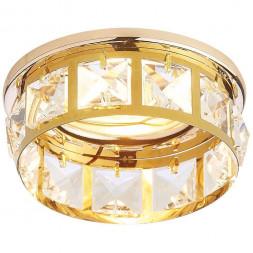 Встраиваемый светильник Ambrella light Crystal K101 CL/G